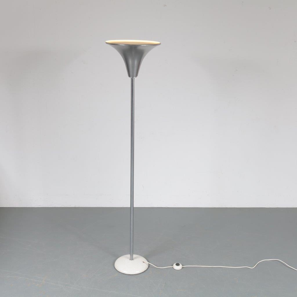 L4241 1950s Dutch uplighter floor lamp Gispen / Netherlands