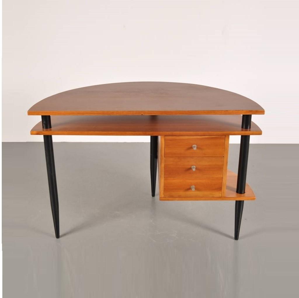 Wooden Desk in the Manner of Ilmari Tapiovaara, circa 1950 2