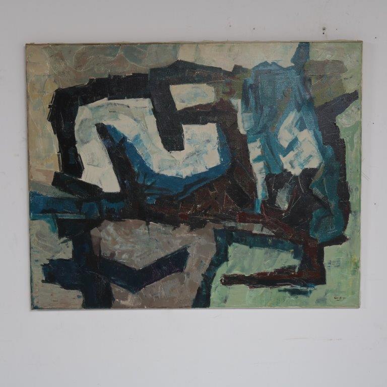 K3609 1960s Abstract oil painting Jaap de Carpentier