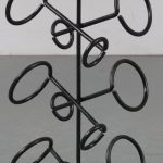 m23479 1950s Cast iron black wine rack Netherlands