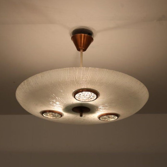 INC65 1950s Italian hanging lamp