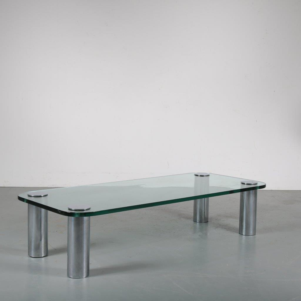 "m23655 1970s ""Marcuso"" coffee table by Marco Zanuso for Zanotta, Italy"