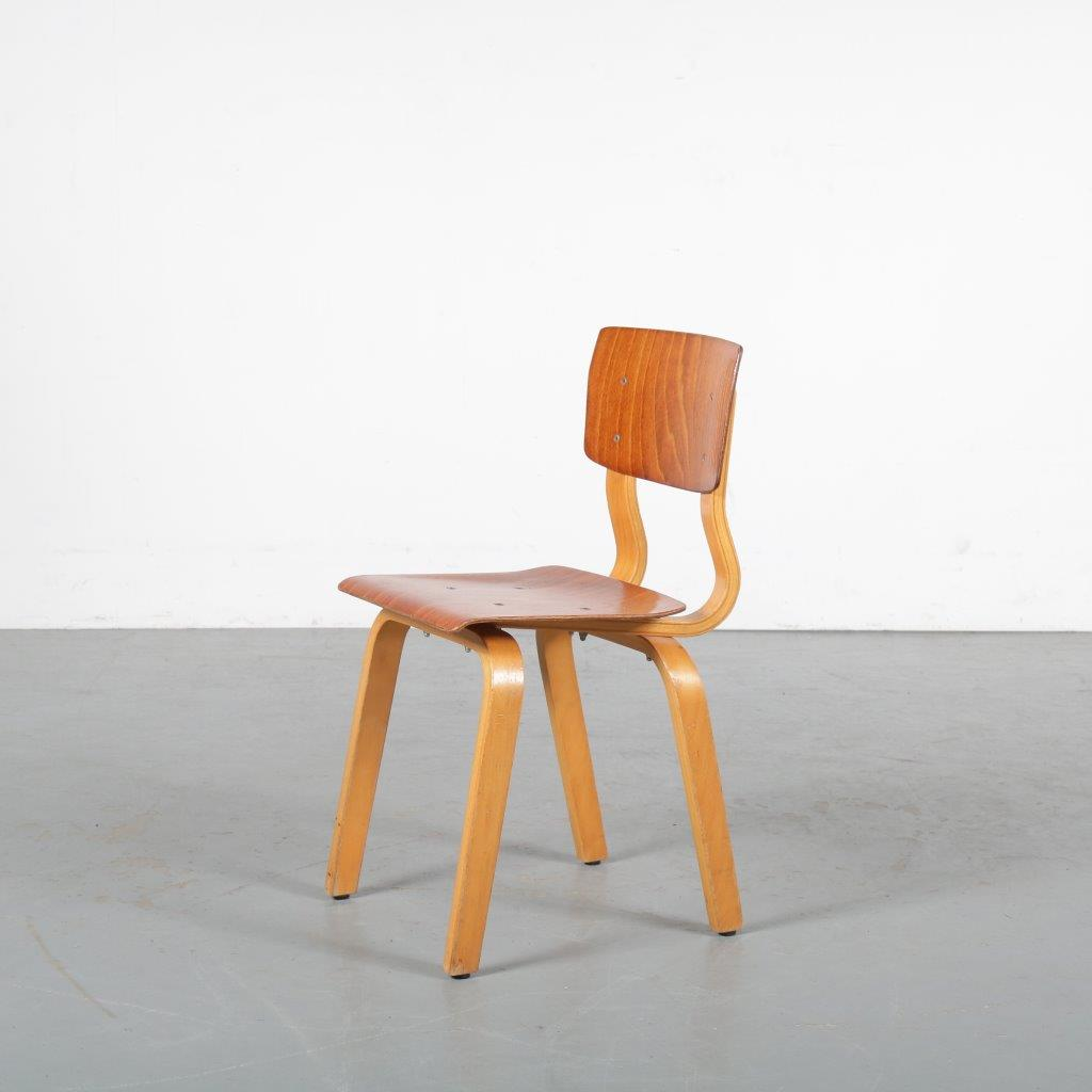 m23889 1960s Plywood children chair Netherlands