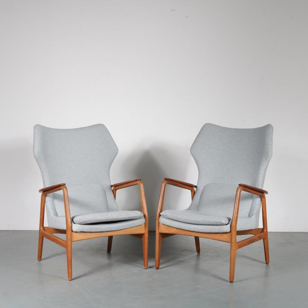 m23622 m22243 1950s Highback lounge chair designed by Aksel Bender Madsen, manufactured by Bovenkamp in the Netherlands