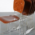 m24106-m24142 1950s Aluflex chair in aluminium with plywood Armin Wirth Aluflex / Switzerland