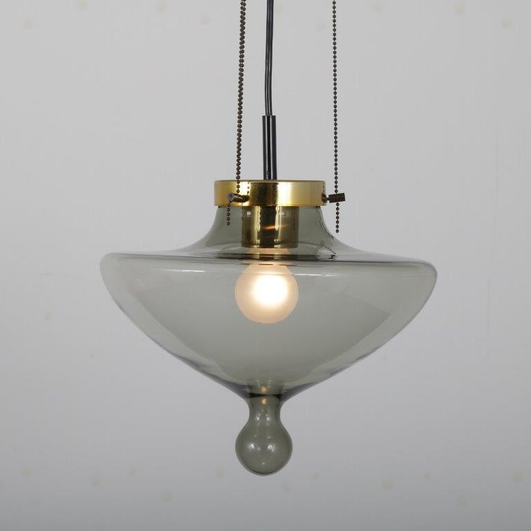 "L4491 1960s Hanging lamp model ""Chaparral"" Raak / Netherlands"
