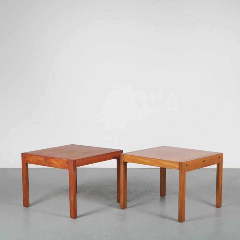 m23813 1960s Set of 2 side tables De Coene / Belgium