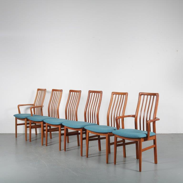 m24192 + m7547 1970s 3x Danish teak dining chair 2x with arms Schou Andersens Mobelfabrik A/S / Denmark