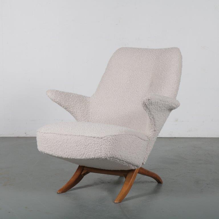 m22386 1950s Penguin chair by Theo Ruth for Artifort, Netherlands