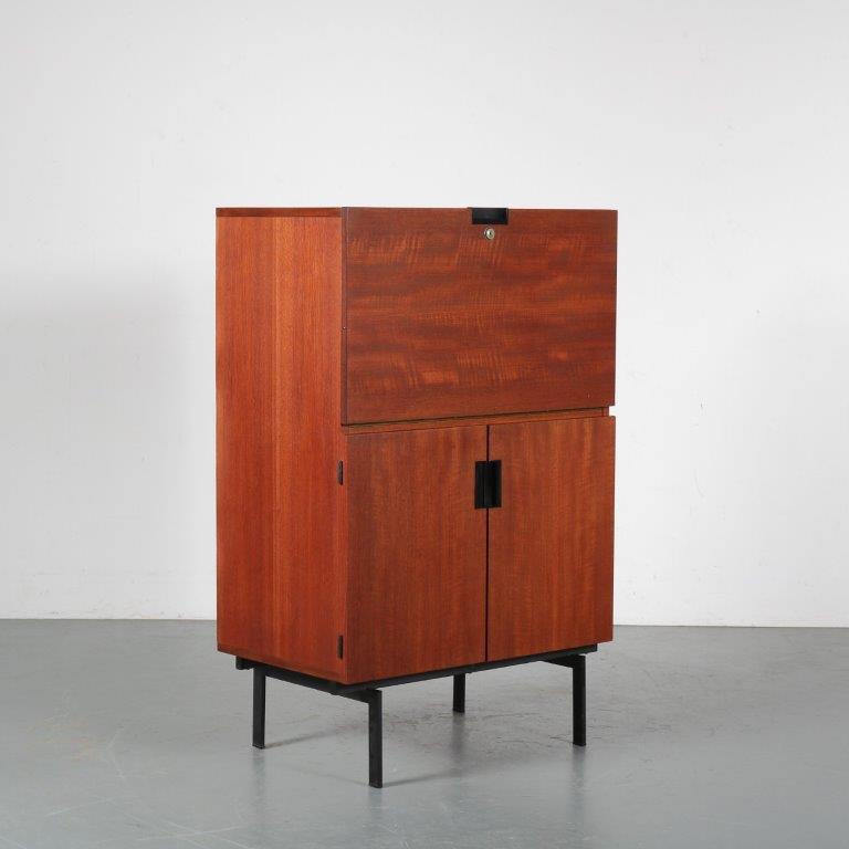 m24433 1950s Japanese serie cabinet / secretaire Cees Braakman Pastoe NL