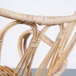 m24662 1950s Rattan easy chair on black metal base Dirk van Sliedregt Gebroeders Jonkers / Netherlands