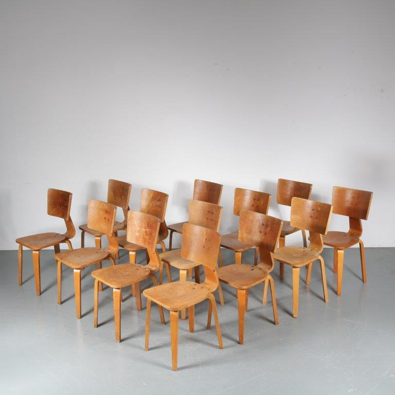 m24222-62 1950s Birch plywood dining chair Cor Alons De Boer Gouda Netherlands