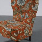 m24807 1950s Cocktail chair with oriental print fabric Theo Ruth Artifort Netherlands