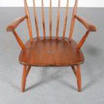 m24737 1950s Oak spokeback easy chair Cees Braakman Pastoe / Netherlands