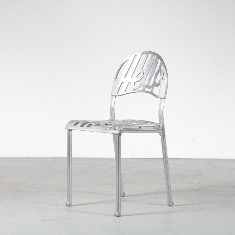 m24881 1960s Hello chair in aluminium Jeremy Harvey Artifort Netherlands