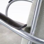 m24873 1950s Easy chair tubular pipe frame with ribcord upholstery model 412 W.H. Gispen Gispen Netherlands