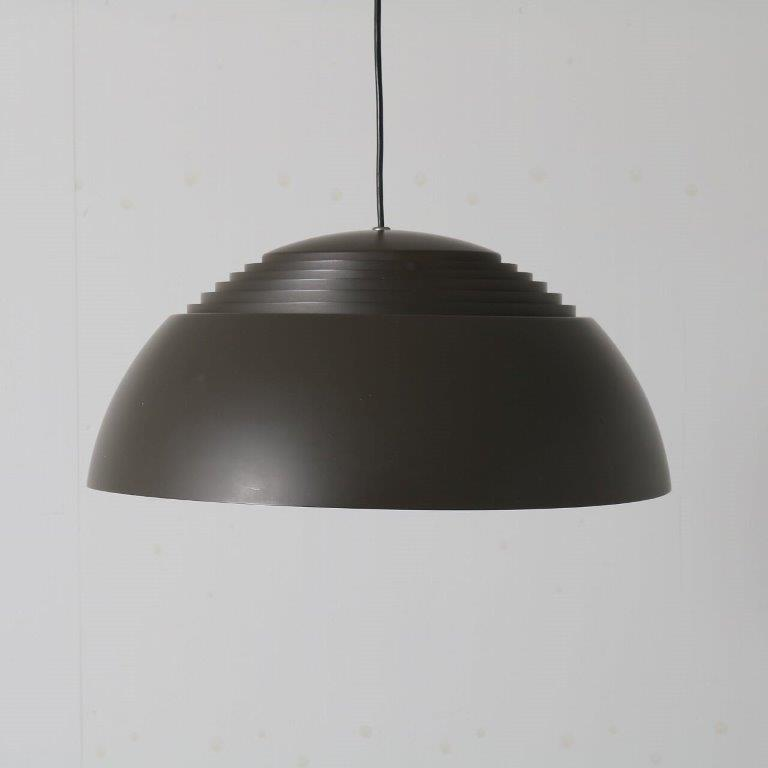 L4657 1960s Grey metal hanging lamp model AJ Royal Arne Jacobsen Louis Poulsen Denmark