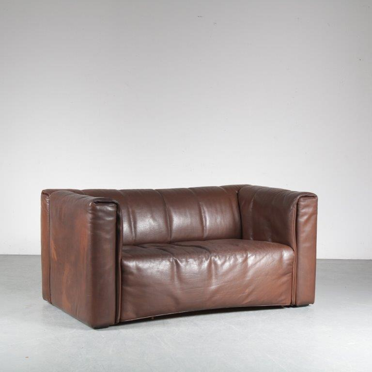 INCm1 1970s 2-Seater leather sofa by Wittmann, Austria