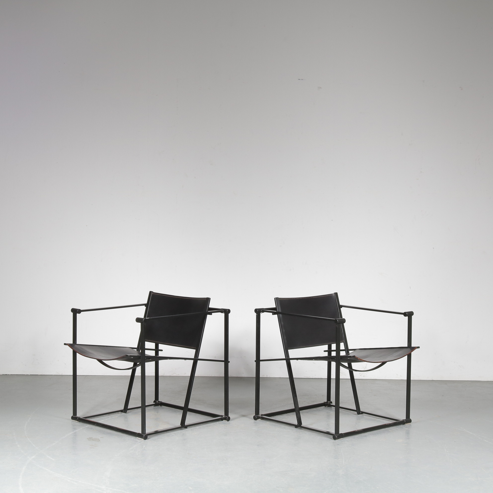 m25041 1980s Pair of Cubic FM60 Chairs by Radboud van Beekum for Pastoe, Netherlands