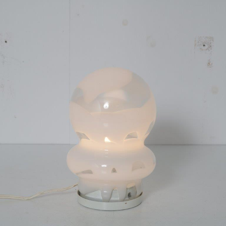 L4561 1960s Small Italian Murano glass table lamp Mazzega Italy