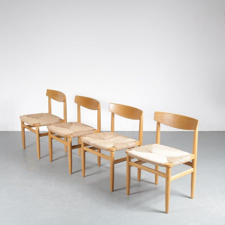 INC89B 1960s Set of Orseund chairs by Borge Mogensen for Karl Andersson & Söner, Sweden