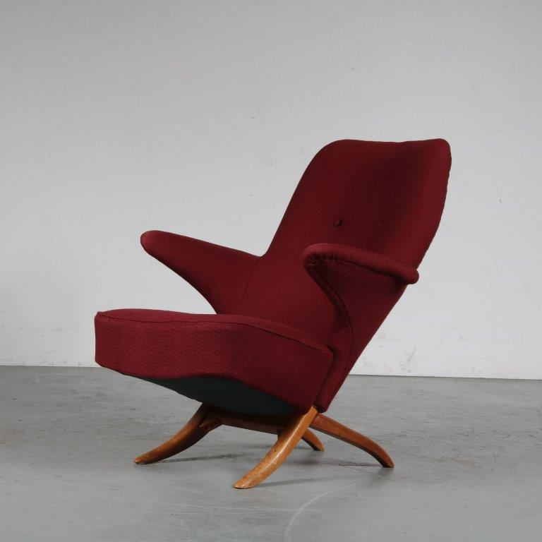 m25089 1950s Penguin chair by Theo Ruth for Artifort, Netherlands