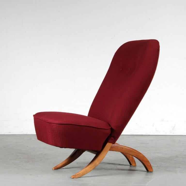 m25090 1950s Congo chair by Theo Ruth for Artifort, Netherlands