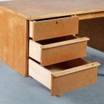 m24038 1950s Birch wooden desk model EB04 Cees Braakman Pastoe / Netherlands