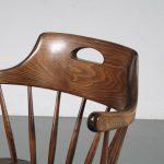 m25280 1960s Spokeback wooden dining chair Yngve Ekström Stolab / Sweden