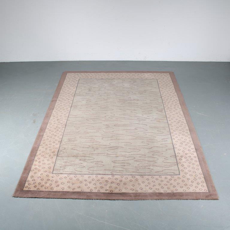 m25360 1980s Memphis style carpet Andrée Putman Gerard Toulemonde / France