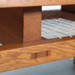 m25347 1960s Oak rectangular coffee table with nice joints De Coene / Belgium