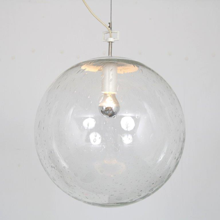 L4534 1960s XL Globe hanging lamp by Raak, Netherlands