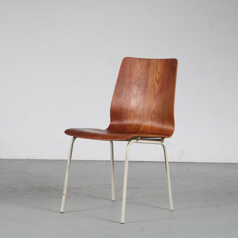 m25356 1950s Side chair by Friso Kramer for Auping, Netherlands