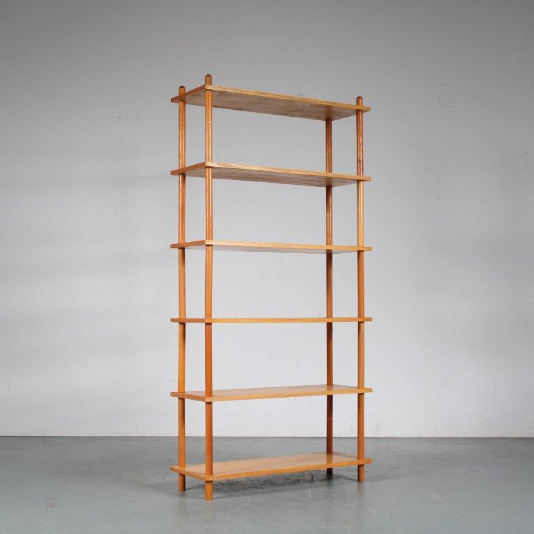 m25342 1950s Birch stick cabinet Netherlands