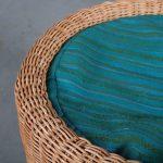 m25351 1960s Wicker pouf with cushion, model Juttu Eero Aarnio Artek / Finland
