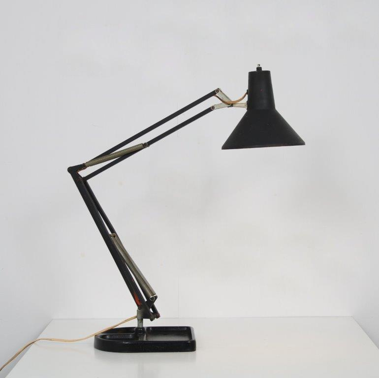 L4711 1950s Angle poise black metal with chrome desk lamp Anglepoise / UK